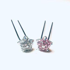 Set of 2 Crystal Star Hair Pins